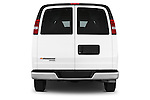 Straight rear view of a 2014 Chevrolet Express 2500 LS 2 Door Van stock images