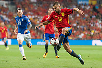 Spain's Jordi Alba during match between Spain and Italy to clasification to World Cup 2018 at Santiago Bernabeu Stadium in Madrid, Spain September 02, 2017. (ALTERPHOTOS/Borja B.Hojas)