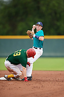 Kyle Lawyer (64) of Sprakers, New York during the Baseball Factory Pirate City Christmas Camp & Tournament on December 29, 2018 at Pirate City in Bradenton, Florida. (Mike Janes/Four Seam Images)