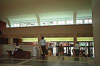 London:  British Libraary. Interior lobby.   Photo 2005.