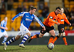St Johnstone v Dundee United.....01.04.13      SPL.Chris Millar breaks away.Picture by Graeme Hart..Copyright Perthshire Picture Agency.Tel: 01738 623350  Mobile: 07990 594431