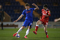 Tom Eastman of Colchester United and Ashley Nadesan of Crawley Town during Colchester United vs Crawley Town, Sky Bet EFL League 2 Football at the JobServe Community Stadium on 1st December 2020