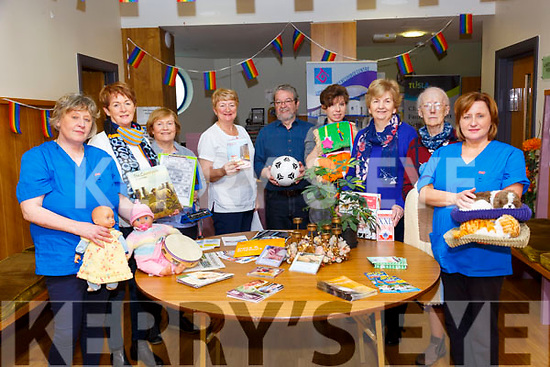 Dementia Care Workers : Staff & volunteers at the Listowel Family Resource Centre displaying activities  on Resource day on Tuesday last. L - R : Brenda McDonagh, Mairead Colbert, Maureen Duffy, Gobnait O'Mahony, John McGrath, Natalie Thornton, Bridie Mulvihill, Kitty Windle & Anne Marie O'Sullivan.