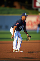 Reading Fightin Phils third baseman Angelo Mora (3) during a game against the New Britain Rock Cats on August 7, 2015 at FirstEnergy Stadium in Reading, Pennsylvania.  Reading defeated New Britain 4-3 in ten innings.  (Mike Janes/Four Seam Images)