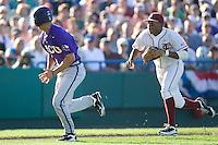 TCU's Rivera, Brance 2318.jpg against Florida State at the College World Series on June 23rd, 2010 at Rosenblatt Stadium in Omaha, Nebraska.  (Photo by Andrew Woolley / Four Seam Images)