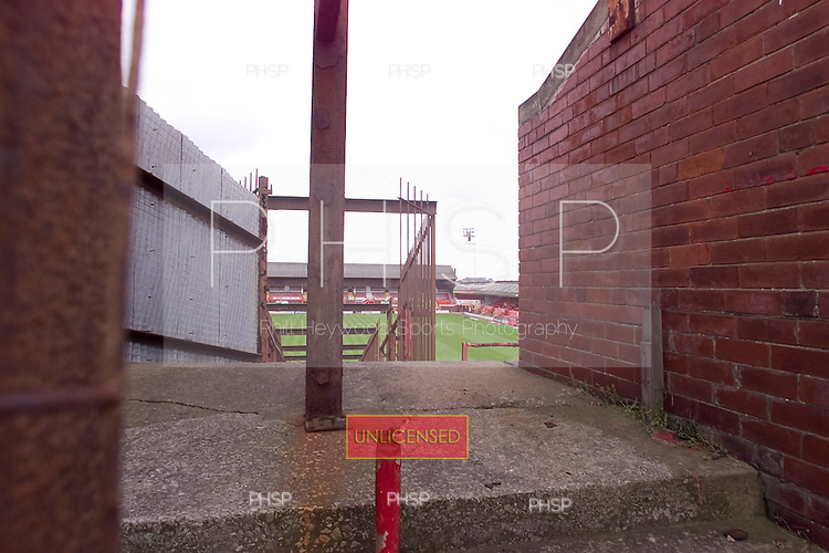 23/06/2000 Blackpool FC Bloomfield Road Ground..Home Kop, centre access stairway.....© Phill Heywood.
