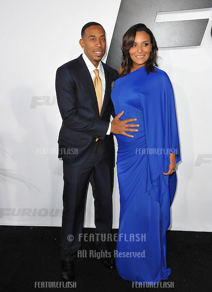 """Chris """"Ludacris"""" Bridges & Eudoxie Mbouguiengue at the world premiere of his movie """"Furious 7"""" at the TCL Chinese Theatre, Hollywood.<br /> April 1, 2015  Los Angeles, CA<br /> Picture: Paul Smith / Featureflash"""
