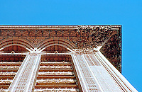 Louis Sullivan: Guaranty Bldg., Buffalo. Looking up to cornice.  Photo '88.