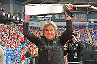 Mike Peters of the rock band Alarm during the homecoming celebrations at the Cardiff City stadium on Friday 8th July 2016 for the Euro 2016 Wales International football squad.<br /> <br /> <br /> Jeff Thomas Photography -  www.jaypics.photoshelter.com - <br /> e-mail swansea1001@hotmail.co.uk -<br /> Mob: 07837 386244 -