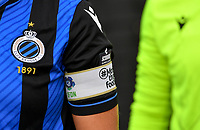 illustration picture showing the Scooore Super League Logo and # More than football on the shirt during a female soccer game between Club Brugge Dames YLA and Zulte Waregem Ladies on the third matchday of the 2020 - 2021 season of Belgian Scooore Womens Super League , saturday 3 October 2020  in Brugge , Belgium . PHOTO SPORTPIX.BE | SPP | DAVID CATRY