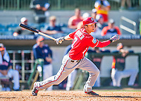 15 March 2016: Washington Nationals infielder Trea Turner, ranked the Number 2 Top Prospect in the Nationals organization for 2016 by MLB and Baseball America, doubles in the 9th inning of a Spring Training pre-season game against the Houston Astros at Osceola County Stadium in Kissimmee, Florida. The Nationals defeated the Astros 6-4 in Grapefruit League play. Mandatory Credit: Ed Wolfstein Photo *** RAW (NEF) Image File Available ***