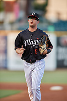 Birmingham Barons outfielder Blake Rutherford (9) during a Southern League game against the Chattanooga Lookouts on July 24, 2019 at Regions Field in Birmingham, Alabama.  Chattanooga defeated Birmingham 9-1.  (Mike Janes/Four Seam Images)