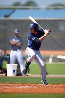 Tampa Bay Rays David Olmedo-Barrera (31) during a minor league Spring Training intrasquad game on April 1, 2016 at Charlotte Sports Park in Port Charlotte, Florida.  (Mike Janes/Four Seam Images)