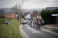 breakaway group up the Valkenberg<br /> <br /> 76th Omloop Het Nieuwsblad 2021<br /> ME(1.UWT)<br /> 1 day race from Ghent to Ninove (BEL): 200km<br /> <br /> ©kramon
