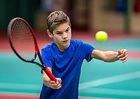 Wateringen, The Netherlands, December 4,  2019, De Rhijenhof , NOJK 14 and18 years, Teun Mantel (NED)<br /> Photo: www.tennisimages.com/Henk Koster