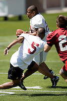 12 April 2007: Former players return to Stanford to play in the Alumni game at Stanford Stadium in Stanford, CA. Pictured is Mike Mitchell.