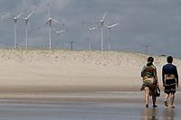 Fortaleza (CE), 13/01/2020 - Energia-Fortaleza - Energia eólica no Nordeste do Brasil, quase 90% da energia consumida na região agora são gerados por essa fonte renovável. Cataventos na Prainha, na tarde deste domingo (12). A praia é localizada logo depois do Beach Park.