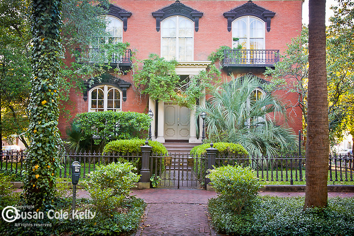 The Mercer-Williams House Museum (1860-1869, Italianate architecture), in Savannah, GA, the largest National Historic Landmark District in the United States.