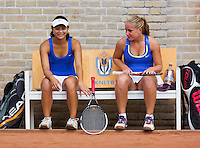 August 9, 2014, Netherlands, Rotterdam, TV Victoria, Tennis, National Junior Championships, NJK,  Final girls 18 years doubles: Inger van Dijkman (L) and Arianne Hartono(NED)   <br /> Photo: Tennisimages/Henk Koster