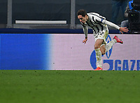 Football Soccer: UEFA Champions League -Round of 16 2nd leg Juventus vs FC Porto, Allianz Stadium. Turin, Italy, March 9, 2021.<br /> Juventus' Federico Chiesa celebrates after scoring his second goal in the match during the Uefa Champions League football soccer match between Juventus and Porto at Allianz Stadium in Turin, on March 9, 2021.<br /> UPDATE IMAGES PRESS/Isabella Bonotto