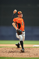 Pitcher Mitchell Miller (24) of Loganville High School in Covington, Georgia playing for the Baltimore Orioles scout team during the East Coast Pro Showcase on July 28, 2015 at George M. Steinbrenner Field in Tampa, Florida.  (Mike Janes/Four Seam Images)