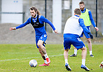 St Johnstone Training....24.02.21<br />Stevie May pictured during training with David Wotherspoon and Shaun Rooney at McDiarmid Park ahead of Sunday's BETFRED Cup Final against Livingston at Hampden Park.<br /><br />Picture by Graeme Hart.<br />Copyright Perthshire Picture Agency<br />Tel: 01738 623350  Mobile: 07990 594431