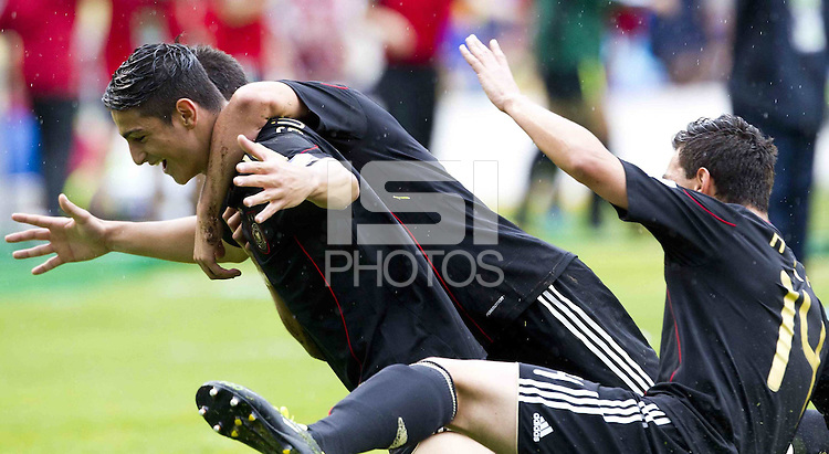 .Action photo of Koray Guenter of Germany celebrating a goal, during game of the FIFA Under 17 World Cup game, held at Queretaro.