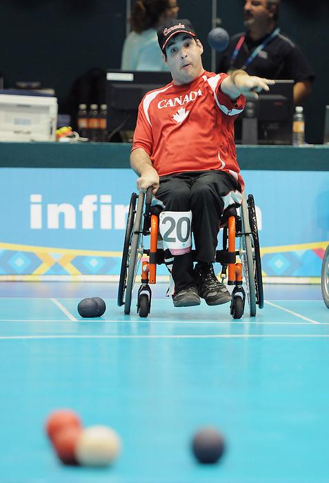 Dave Richer, Guadalajara 2011 - Boccia.<br /> Dave Richer during the Bronze medal match against Brazil's Luise Lisboa // Dave Richer lors du match pour la médaille de bronze contre la Brésilienne Luise Lisboa. 11/16/2011.