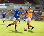 27.09.2020 Motherwell v Rangers:  Scott Arfield and Barry Maguire