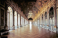 Palace of Versailles, Hall of Mirrors, begun 1678. Designers Hardouin-Mansart and Le Brun.