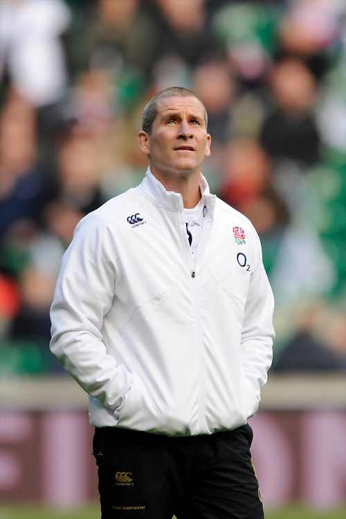 Stuart Lancaster, England Team Manager, looks on before the QBE Autumn International match between England and New Zealand at Twickenham on Saturday 16th November 2013 (Photo by Rob Munro)