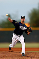 Pete Kelich #32 of the AZL Padres pitches against the AZL Brewers at the Texas Rangers Spring Training Complex on July 12, 2013 in Surprise, Arizona. AZL Brewers defeated the AZL Padres, 5-3. (Larry Goren/Four Seam Images)