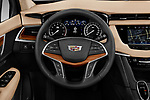 Car pictures of steering wheel view of a 2019 Cadillac XT5 Platinum 5 Door Suv Steering Wheel