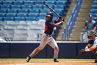 Kier Meredith (38) of Robert B. Glenn High School in Winston-Salem, North Carolina playing for the Cleveland Indians scout team during the East Coast Pro Showcase on August 3, 2016 at George M. Steinbrenner Field in Tampa, Florida.  (Mike Janes/Four Seam Images)
