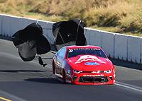 Jul 29, 2017; Sonoma, CA, USA; NHRA pro stock driver Drew Skillman during qualifying for the Sonoma Nationals at Sonoma Raceway. Mandatory Credit: Mark J. Rebilas-USA TODAY Sports