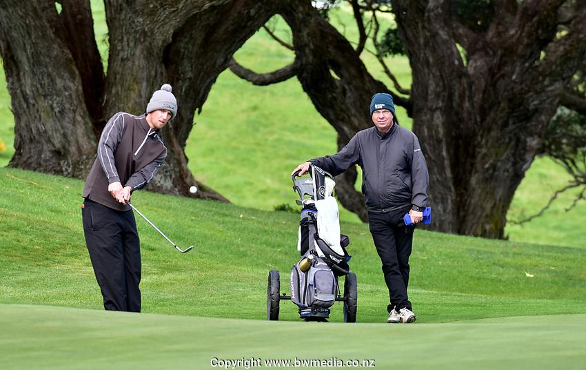 Sam Jones during the Jennian Homes Charles Tour Taranaki Open, New Plymouth Golf Course, New Plymouth, Thursday 15 October 2020. Photo: John Velvin/www.bwmedia.co.nz