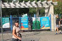 RECIFE (PE), 06/03/2021 - Imagem dos portões fechados ao público no Parque da Jaqueira, neste sábado (6), no bairro da Jaqueira no Recife. Os sábados e domingos, até 17 de março, somente serviços essenciais estão liberados para funcionar. A restrição dos Parques e também das praias são para frear a nova aceleração da Covid-19 no Estado.