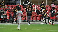 WASHINGTON, DC - SEPTEMBER 12: Ben Olsen Head Coach of D.C. United during a game between New York Red Bulls and D.C. United at Audi Field on September 12, 2020 in Washington, DC.