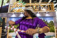 Internationale Tourismusboerse, ITB, 2019 in Berlin.<br /> Im Bild: Folkloristische Tanzauffuehrung am Stand der Malediven.<br /> 6.3.2019, Berlin<br /> Copyright: Christian-Ditsch.de<br /> [Inhaltsveraendernde Manipulation des Fotos nur nach ausdruecklicher Genehmigung des Fotografen. Vereinbarungen ueber Abtretung von Persoenlichkeitsrechten/Model Release der abgebildeten Person/Personen liegen nicht vor. NO MODEL RELEASE! Nur fuer Redaktionelle Zwecke. Don't publish without copyright Christian-Ditsch.de, Veroeffentlichung nur mit Fotografennennung, sowie gegen Honorar, MwSt. und Beleg. Konto: I N G - D i B a, IBAN DE58500105175400192269, BIC INGDDEFFXXX, Kontakt: post@christian-ditsch.de<br /> Bei der Bearbeitung der Dateiinformationen darf die Urheberkennzeichnung in den EXIF- und  IPTC-Daten nicht entfernt werden, diese sind in digitalen Medien nach §95c UrhG rechtlich geschuetzt. Der Urhebervermerk wird gemaess §13 UrhG verlangt.]
