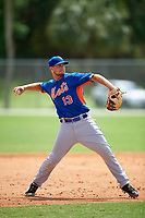 New York Mets David Thompson (13) during a minor league Spring Training game against the St. Louis Cardinals on March 31, 2016 at Roger Dean Sports Complex in Jupiter, Florida.  (Mike Janes/Four Seam Images)