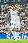 Carlos Henrique Casemiro of Real Madrid reacts during the La Liga 2017-18 match between Real Madrid and Real Betis at Estadio Santiago Bernabeu on 20 September 2017 in Madrid, Spain. Photo by Diego Gonzalez / Power Sport Images