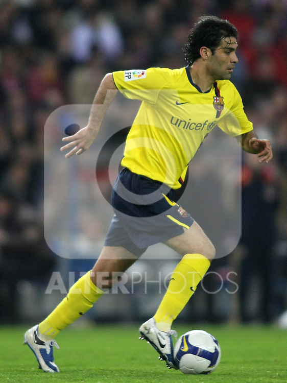 FC Barcelona's Rafael Marquez during La Liga match.March 01 2009. (ALTERPHOTOS/Acero).