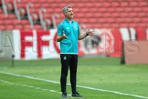 8th November 2020; Beira-Rio Stadium, Porto Alegre, Brazil; Brazilian Serie A, Internacional versus Coritiba; Coritiba manager Rodrigo Santana