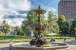 Brewer Fountain in Boston Common, Boston, Massachusetts, USA