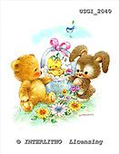 GIORDANO, CUTE ANIMALS, LUSTIGE TIERE, ANIMALITOS DIVERTIDOS, Teddies, paintings+++++,USGI2040,#AC# teddy bears