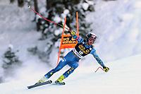 19th December 2020; Saslong, Val Gardena, Tyrol, Italy; International Ski Federation Alpine Ski World Cup, 2nd Men's Downhill, Val Gardena; Bryce Bennett (USA)