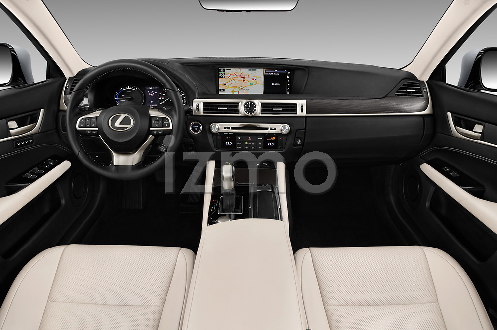 Stock photo of straight dashboard view of 2017 Lexus GS Executive-Line 4 Door Sedan Dashboard