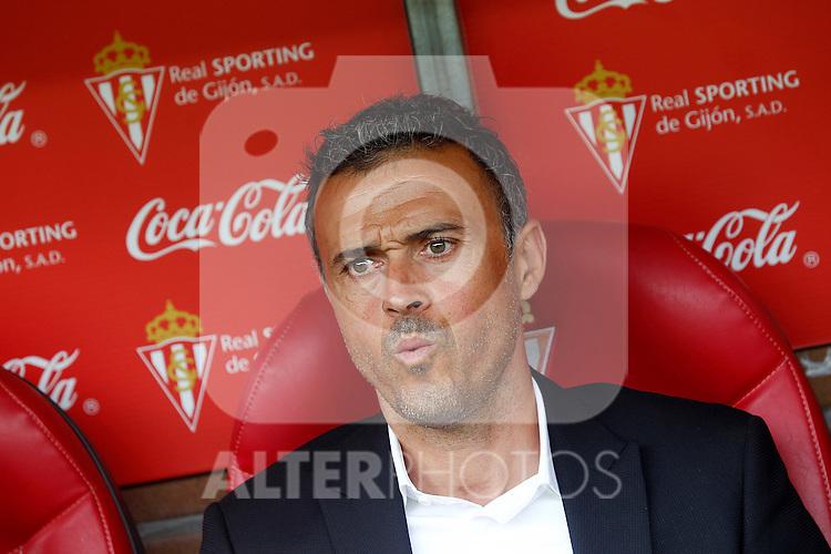 FC Barcelona's coach Luis Enrique Martinez during La Liga match. September 24,2016. (ALTERPHOTOS/Acero)