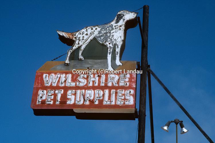 Wilshire Pet Supplies sign, Santa Monica, CA Sept. 1988