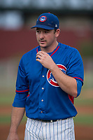 AZL Cubs 2 starting pitcher Allen Webster (78) walks off the field in a rehab assignment during an Arizona League game against the AZL White Sox at Sloan Park on July 13, 2018 in Mesa, Arizona. The AZL Cubs 2 defeated the AZL White Sox 6-4. (Zachary Lucy/Four Seam Images)